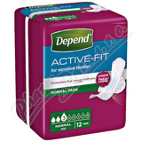 Depend Active-Fit Normal inkont. vložky ženy 12ks