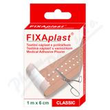FIXAplast text. náplast s polštářkem CLASSIC 1mx6cm