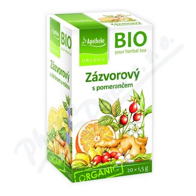 Apotheke BIO Zázvorový čaj s pomerančem 20x1.5g